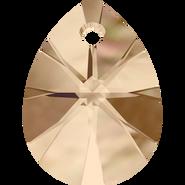 Swarovski Pendant 6128 - 8mm, Crystal Golden Shadow (001 GSHA), 12pcs