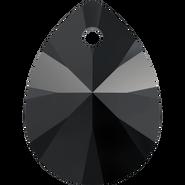 Swarovski Pendant 6128 - 8mm, Jet (280), 12pcs
