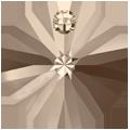 Swarovski Pendant 6428 - 6mm, Greige (284), 20pcs