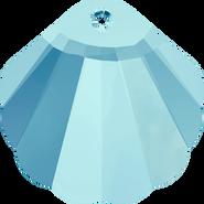 Swarovski Pendant 6723 - 16mm, Aquamarine (202), 2pcs