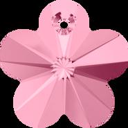Swarovski Pendant 6744 - 12mm, Light Rose (223), 6pcs