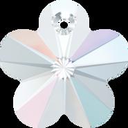 Swarovski Pendant 6744 - 18mm, Crystal Aurore Boreale (001 AB), 2pcs
