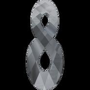 Swarovski Pendant 6792 - 18mm, Crystal Silver Night (001 SINI), 2pcs