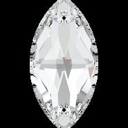 Swarovski Sew-on 3223 - 12x6mm, Crystal (001) Foiled, 4pcs