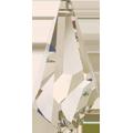 Swarovski Pendant 6015 - 13mm, Crystal Silver Shade (001 SSHA), 4pcs