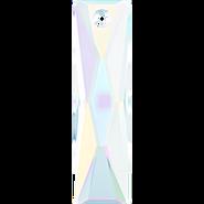 Swarovski Pendant 6465 - 38x10mm, Crystal Aurore Boreale (001 AB), 1pcs
