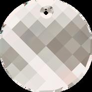 Swarovski Pendant 6621 - 28mm, Crystal Silver Shade (001 SSHA), 1pcs