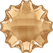 Swarovski Flatback 2612 - 14mm, Crystal Golden Shadow (001 GSHA) Foiled, No Hotfix, 36pcs