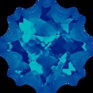 Swarovski Fancy Stone 4195 - 14mm, Crystal Bermuda Blue (001 BBL) Foiled, 24pcs