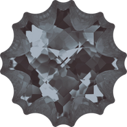 Swarovski Fancy Stone 4195 - 14mm, Crystal Silver Night (001 SINI) Unfoiled, 24pcs