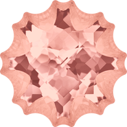 Swarovski Fancy Stone 4195 - 14mm, Blush Rose (257) Foiled, 24pcs