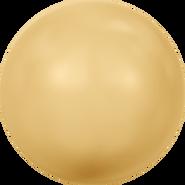 Swarovski Crystal Pearl 5818 - 10mm, Crystal Gold Pearl (001 296), 100pcs