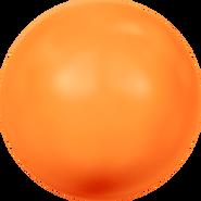 Swarovski Crystal Pearl 5818 - 12mm, Crystal Neon Orange Pearl (001 733), 100pcs