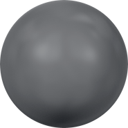Swarovski Crystal Pearl 5818 - 8mm, Crystal Dark Grey Pearl (001 617), 250pcs