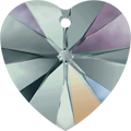 Swarovski Pendant 6228 MM 14,4X 14,0 BLACK DIAMOND AB(2pcs)