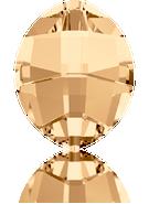 Swarovski Fancy Stone 4224 MM 10,0X 8,0 CRYSTAL GOL.SHADOW F(144pcs)
