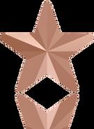 Swarovski Fancy Stone 4745 MM 5,0 CRYSTAL ROSE GOLD F(720pcs)