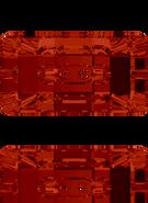 Swarovski Button 3093 MM 21,0X 11,0 CRYSTAL RED MAGMA F(36pcs)