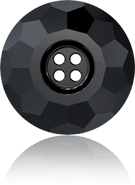 Swarovski Button 3008 MM 12,0 JET(48pcs)