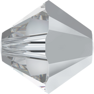Swarovski Bead 5328 - 6mm, Crystal Comet Argent Light (001 CAL), 360pcs
