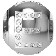 """Swarovski BeCharmed 182201 - 12m Stainless Steel letter """"E"""" each"""