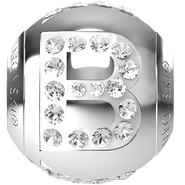 "Swarovski BeCharmed 182201 - 12m Stainless Steel letter ""B"" each"