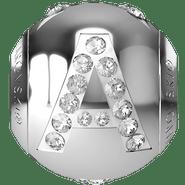 "Swarovski BeCharmed 182201 - 12m Stainless Steel letter ""A"" each"
