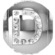 "Swarovski BeCharmed 182201 - 12m Stainless Steel letter ""D"" each"