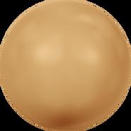 Swarovski Crystal Pearl 5810 - 10mm, Crystal Bright Gold Pearl (001 306), 100pcs
