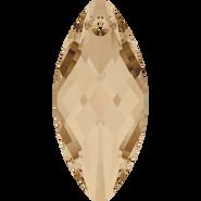 Swarovski Pendant 6110 - 40x18mm, Crystal Golden Shadow (001 GSHA), 12pcs
