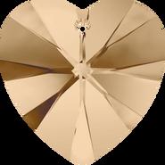 Swarovski Pendant 6228 - 14.4x14mm, Crystal Golden Shadow (001 GSHA), 144pcs