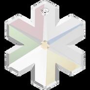 Swarovski Pendant 6704 - 25mm, Crystal Aurore Boreale (001 AB), 24pcs