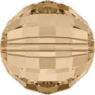 Swarovski Bead 5005 - 16mm, Crystal Golden Shadow (001 GSHA), 24pcs