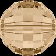 Swarovski Bead 5005 - 8mm, Crystal Golden Shadow (001 GSHA), 216pcs