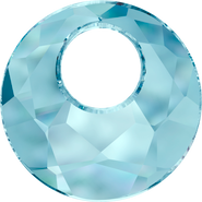 Swarovski Pendant 6041 - 38mm, Aquamarine (202), 6pcs