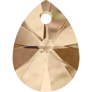 Swarovski Pendant 6128 - 8mm, Crystal Golden Shadow (001 GSHA), 144pcs