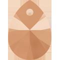 Swarovski Pendant 6128 - 8mm, Crystal Rose Gold 2x (001 ROGL2), 144pcs