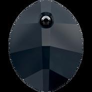 Swarovski Pendant 6734 - 14mm, Jet (280), 108pcs