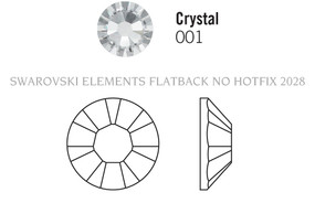 Swarovski 2028# - 25mm Crystal, F, 8pcs, (6-4)