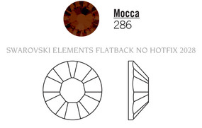 Swarovski 2028# - 34 Mocca, F, 144pcs, (33-4) Foiled