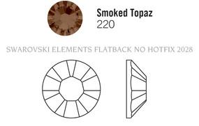 Swarovski 2028# - 6 Smoked Topaz, F, 1440pcs, (33-4) Foiled