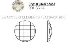 Swarovski 2035# - 30mm Crystal, SSHA, F, 12pcs, (8-1) Foiled