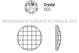 Swarovski 2035# - 40mm Crystal Sahara, 6pcs, (20-3)