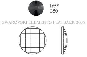 Swarovski 2035# - 40mm Jet UF, 6pcs, (6-5)