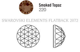 Swarovski 2072# - 12mm Smoked Topaz, F, 72pcs, (4-4) Foiled