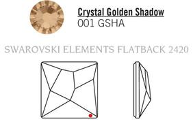 Swarovski 2420# - 25mm Crystal, GSHA, F, 32pcs, (20-1) Foiled