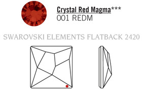 Swarovski 2420# - 25mm Crystal, REDM, F, 32pcs, (2-2)