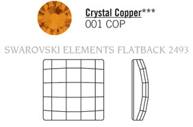 Swarovski 2493# - 10mm Crystal, COPPER, F, 144pcs, (22-8) Foiled