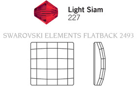 Swarovski 2493# - 10mm Light Siam, M, HF, 144pcs, (8-8)