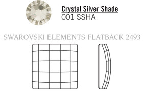Swarovski 2493# - 12mm Crystal, SSHA, F, 96pcs, (22-7) Foiled